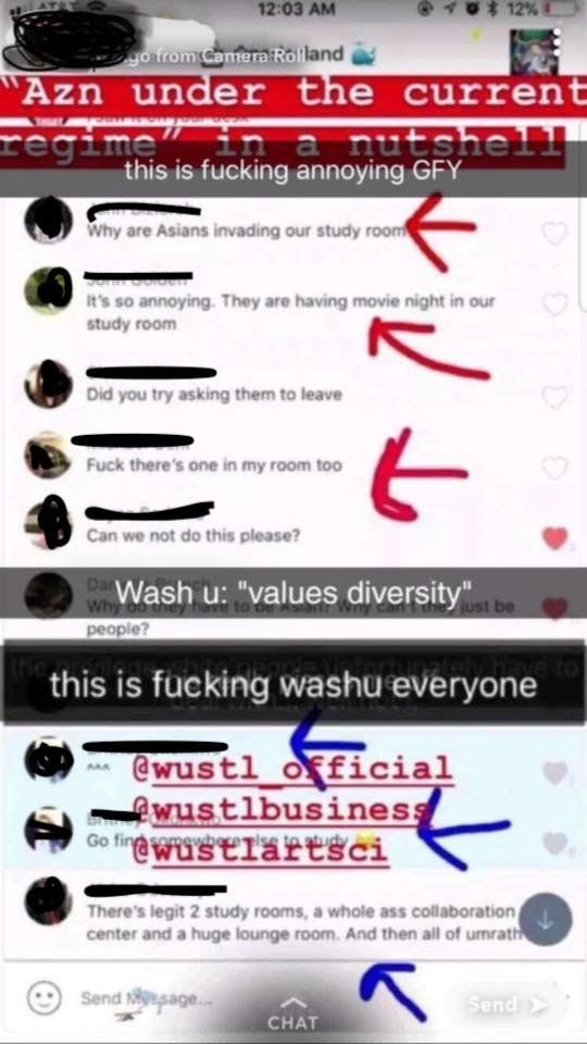 WashU Students In Group Chat: 'Why Are Asians Invading Our Study Room'