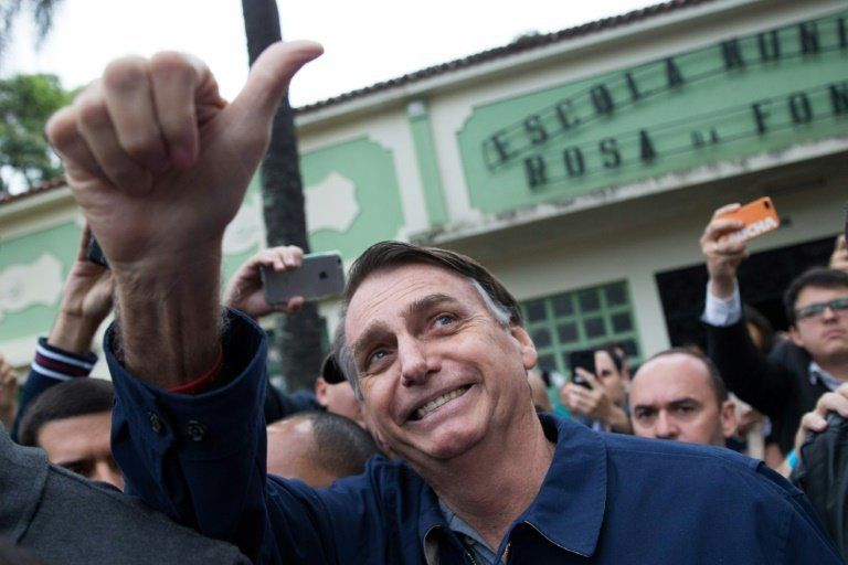 Jair Bolsonaro, a right-wing presidential candidate who supported the country's former military dictatorship and poses a thre