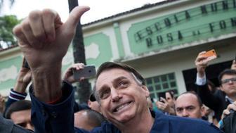 (法新社里約熱內盧10日電)    巴西下屆總統黑馬、極右翼候選人波索納洛(Jair Bolsonaro)今天闡明他私有化及年金改革計畫內容,由於計畫遠不如外界預期地那般大刀闊斧,嚇壞許多先前相挺的投資人。
