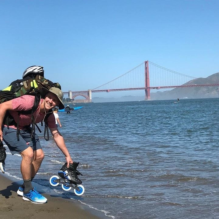 Day 1 (May 28, 2018, San Francisco, California): With the Golden Gate Bridge in view, spirits were high as Mike pulled away f