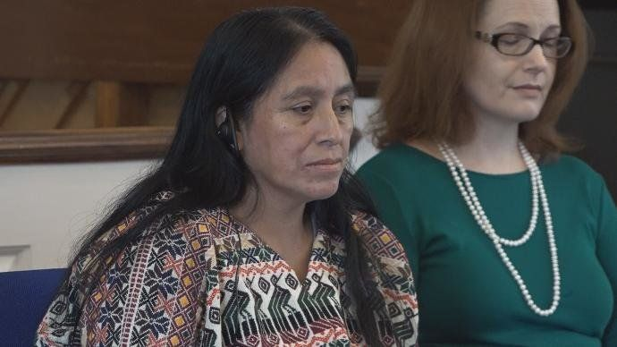 Maria Chavalan Sut, a 44-year-old indigenous woman from Guatemala, is seeking asylum in the U.S. after people set her home on