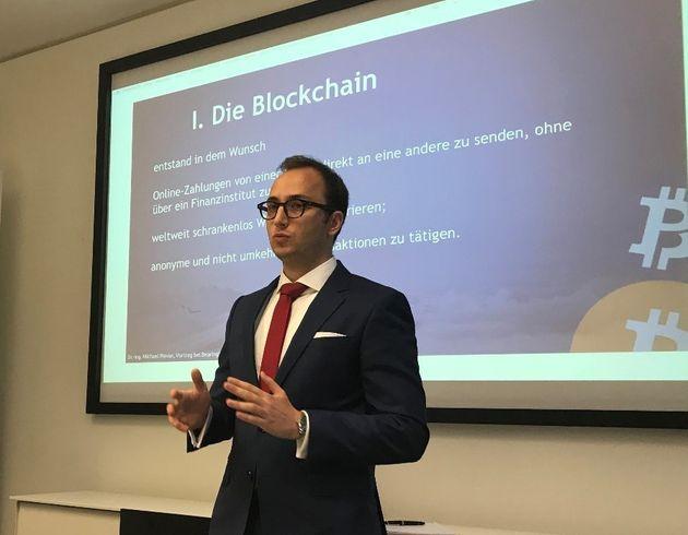 Dr. Michael Plevan erklärt Privatsphäre auf der Blockchain am Beispiel des Bitcoin