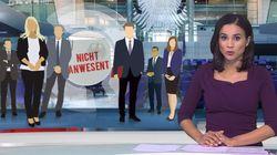 RTL-Moderatorin liest Nachrichten - Zuschauer sehen peinlichen Fehler hinter