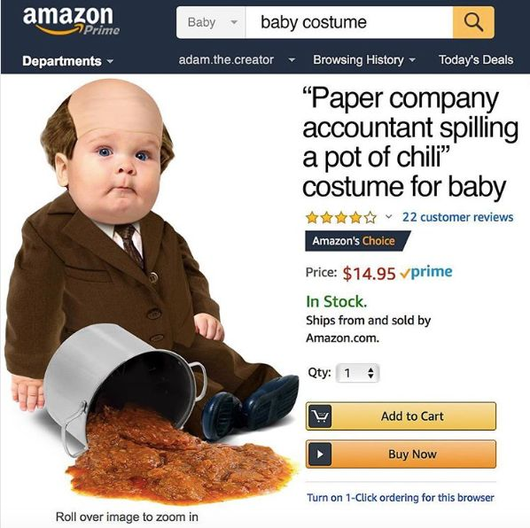 "This ""Office""-Themed Baby Halloween Costume Is Utterly Amazing"
