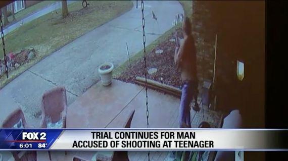 Jeffrey Zeigler seen firing shot at Brennan Walker.