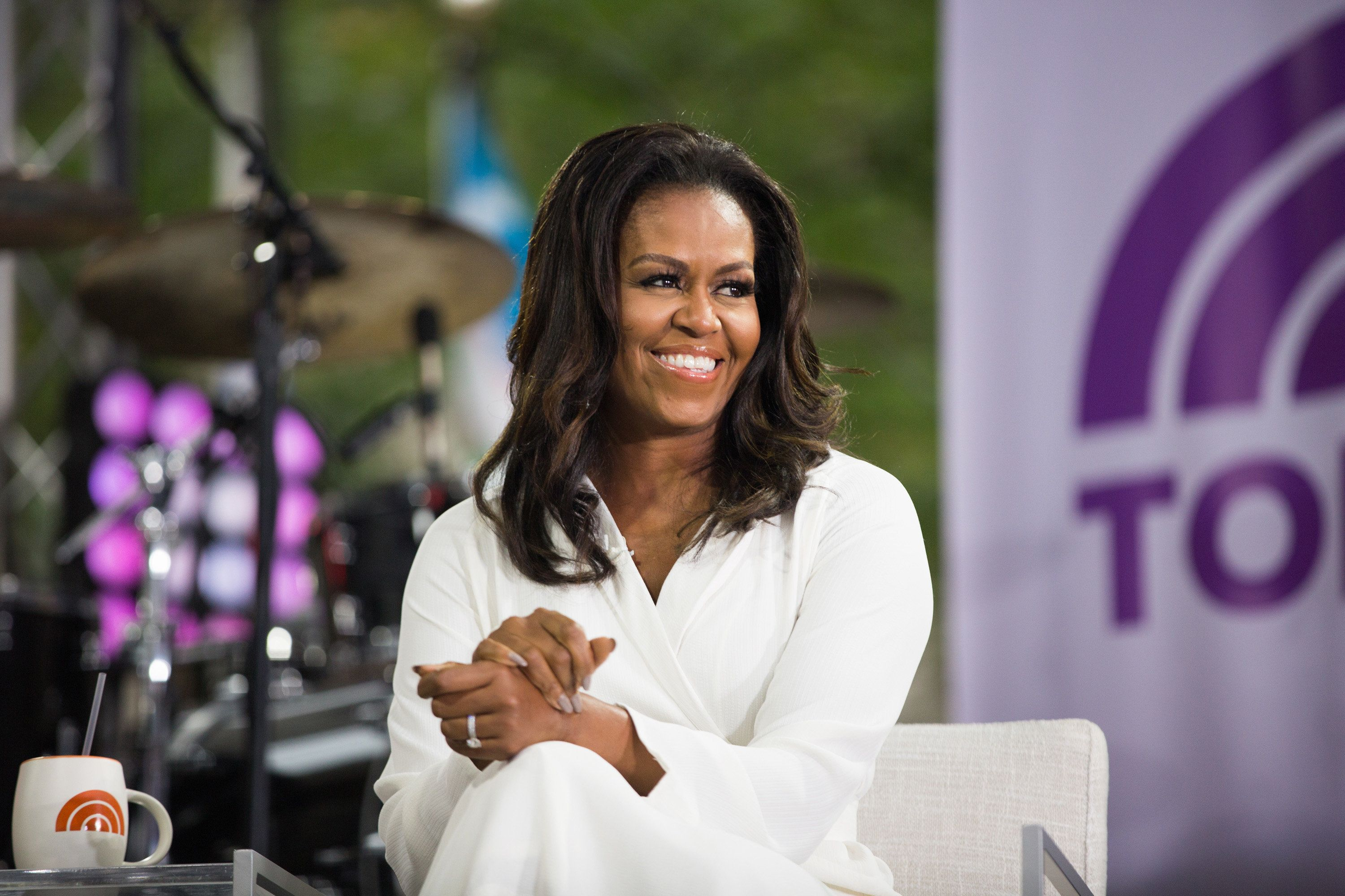 """Michelle Obama on the set of """"Today."""""""