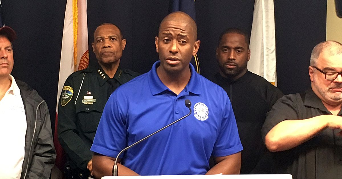 Andrew Gillum Condemns Ron DeSantis For Negative Ads Aired Before Hurricane Michael