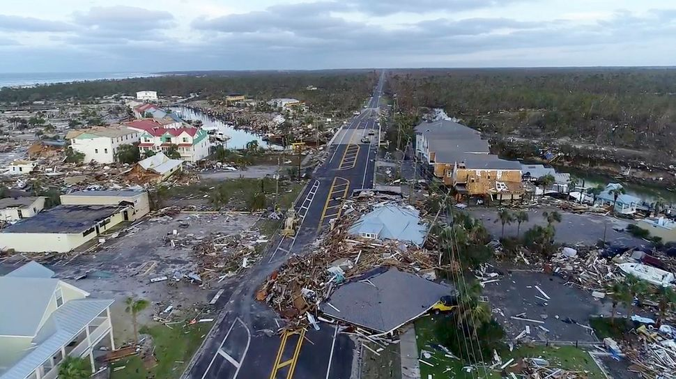 In this image made from video and provided by SevereStudios.com, damage from Hurricane Michael is seen in Mexico Beach.