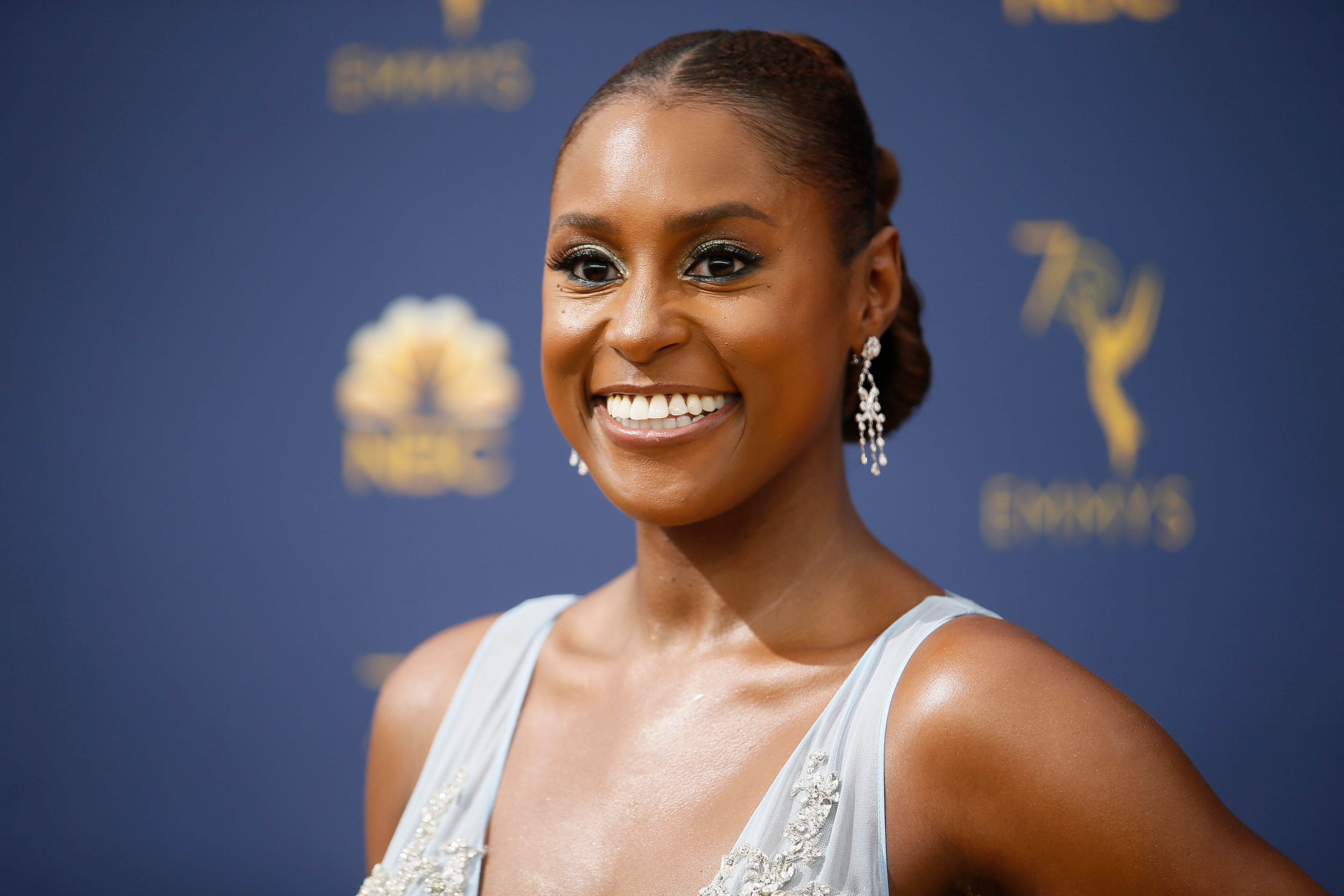 Issa Rae arrives at the 70th Primetime Emmy Awards on Monday, Sept. 17, 2018, at the Microsoft Theater in Los Angeles. (Photo by Danny Moloshok/Invision for the Television Academy/AP Images)