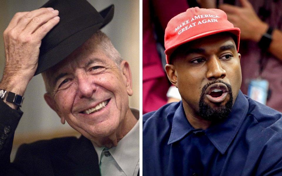 Leonard Cohen and Kanye West