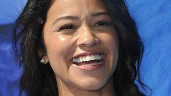 WESTWOOD, CA - SEPTEMBER 22:  Actress Gina Rodriguez arrives for the Premiere Of Warner Bros. Pictures' 'Smallfoot' held at Regency Village Theatre on September 22, 2018 in Westwood, California.  (Photo by Albert L. Ortega/Getty Images)