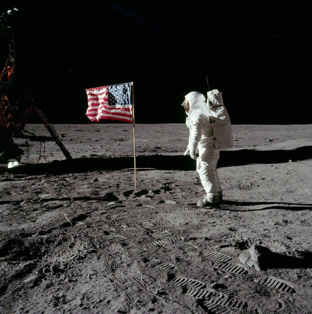 Image result for first man american flag