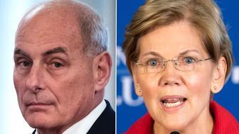John Kelly, Elizabeth Warren