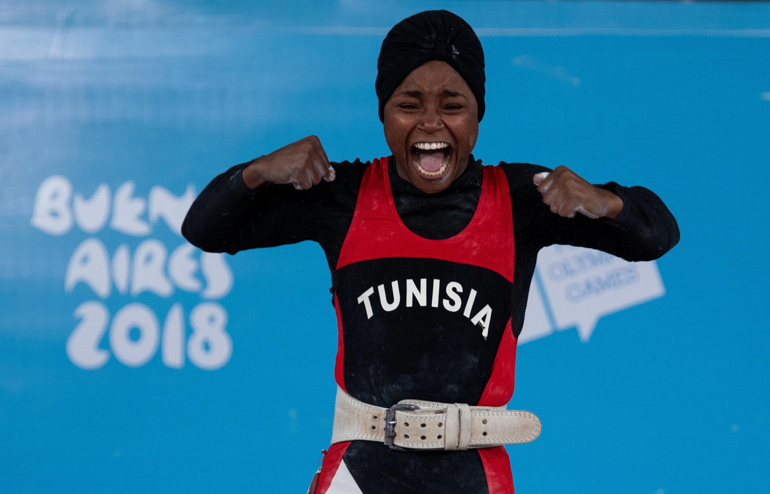 Ghofrane Belkhir offre à la Tunisie sa première médaille d'or aux Jeux Olympiques de la Jeunesse 2018 en