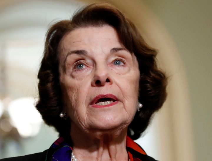 Sen. Dianne Feinstein (D-Calif.) has received numerous threats because some Republicans -- including President Donald Trump -