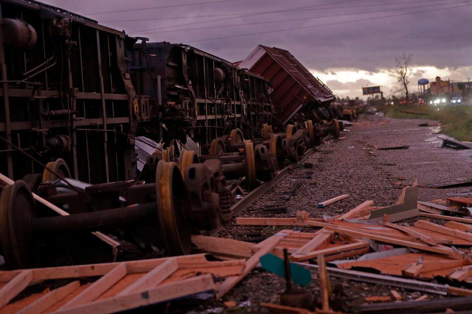 파나마 시티의 쓰러진 열차