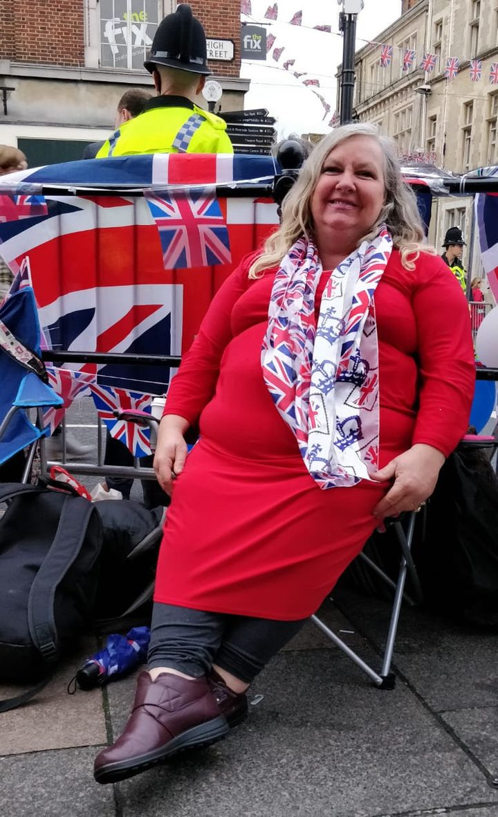 Kerry Evans has been camping since Tuesday
