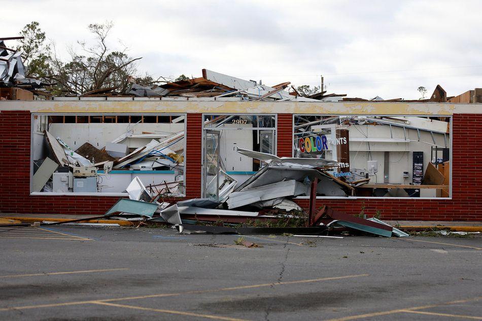 파손된 파마나 시티 건물