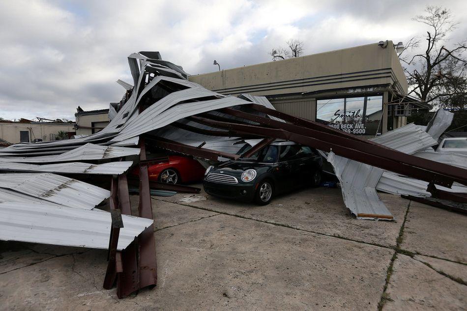 파손된 파나마 시티 건물