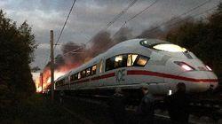 Brennender ICE im Westerwald: Feuerwehr rettet 500