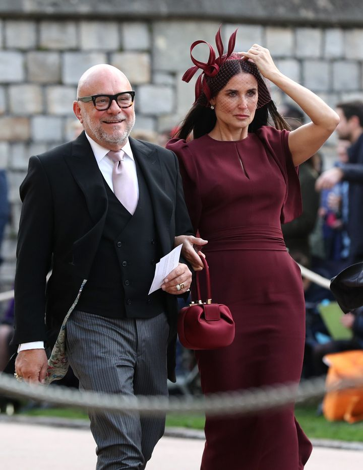 Demi Moore arrives at St. George's Chapel at Windsor Castle on Oct. 12.