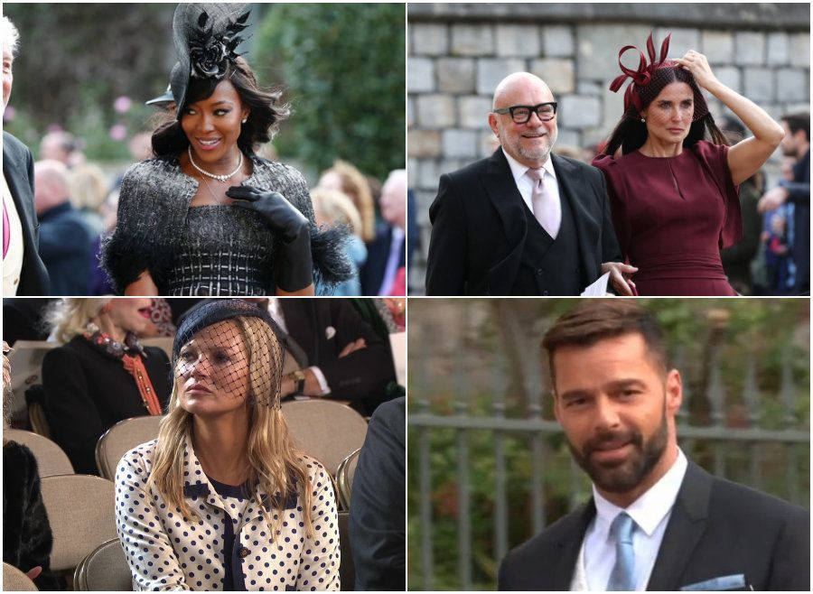 Naomi Campbell, Demi Moore And Ricky Martin Lead Celebs You Probably Didn't Expect To See At Princess Eugenie's