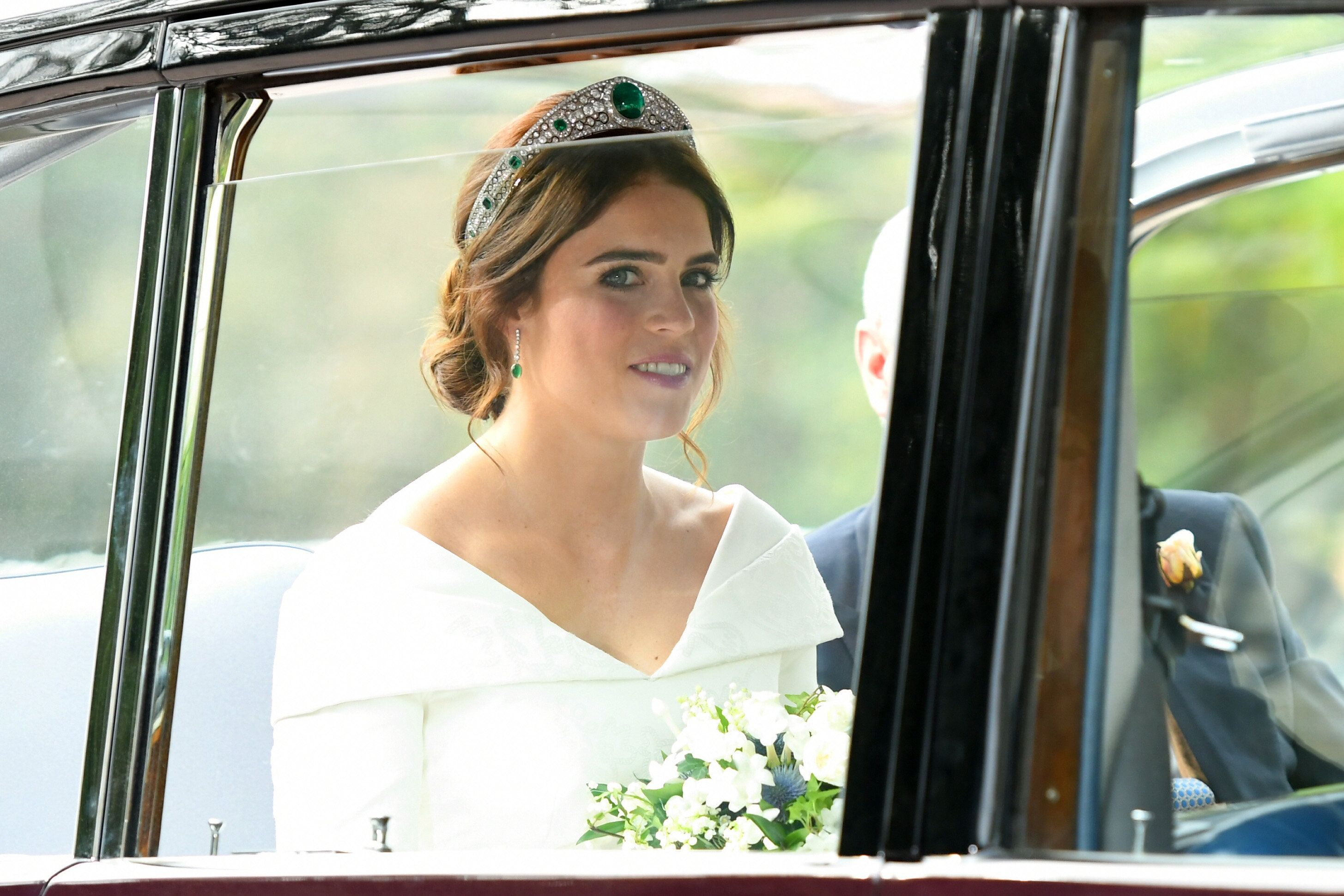 Princess Eugenie Wows In Low-Back Wedding Dress By British Designer Peter