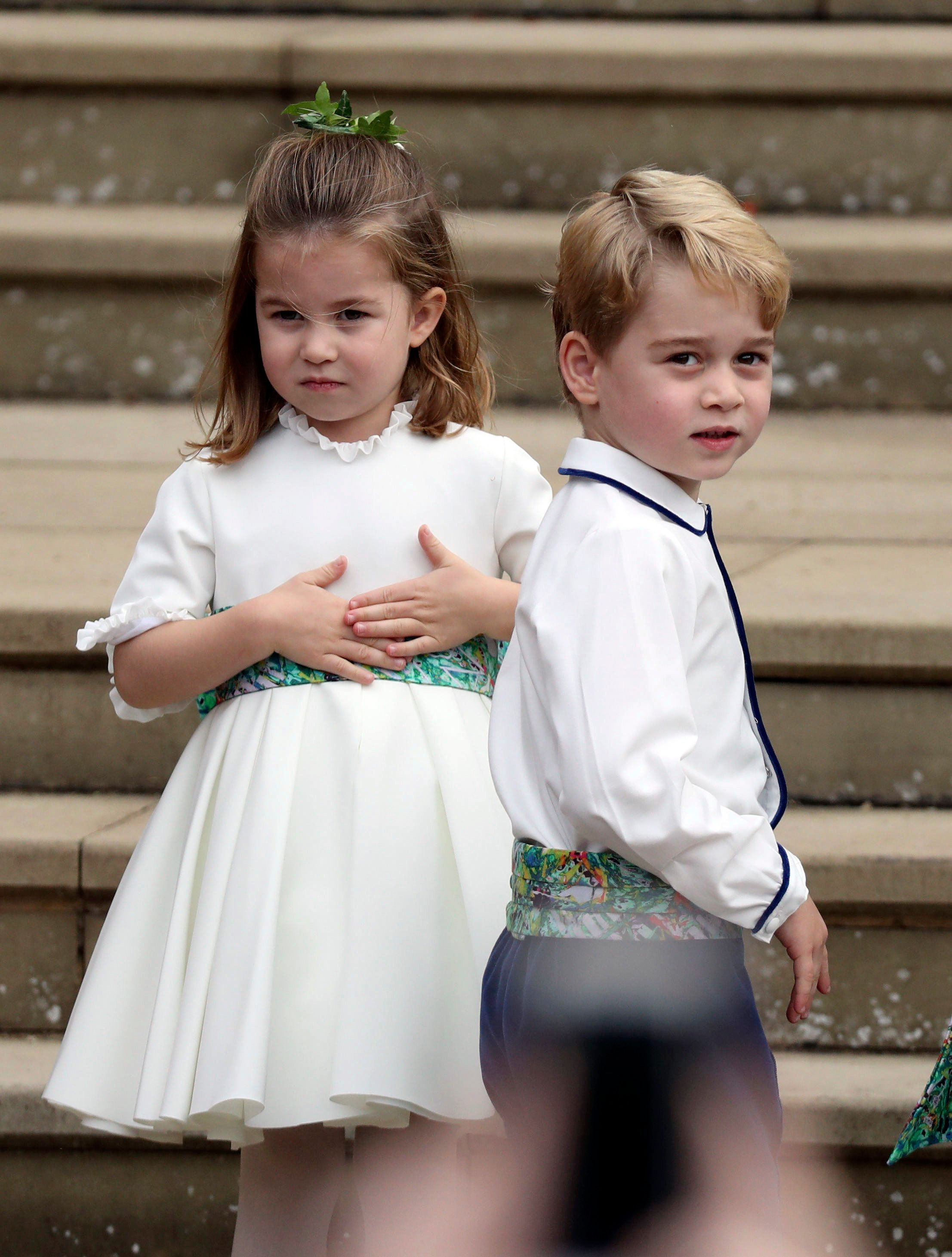 Princess Charlotte And Prince George Look Adorable As They Make Blustery Entrance To Royal