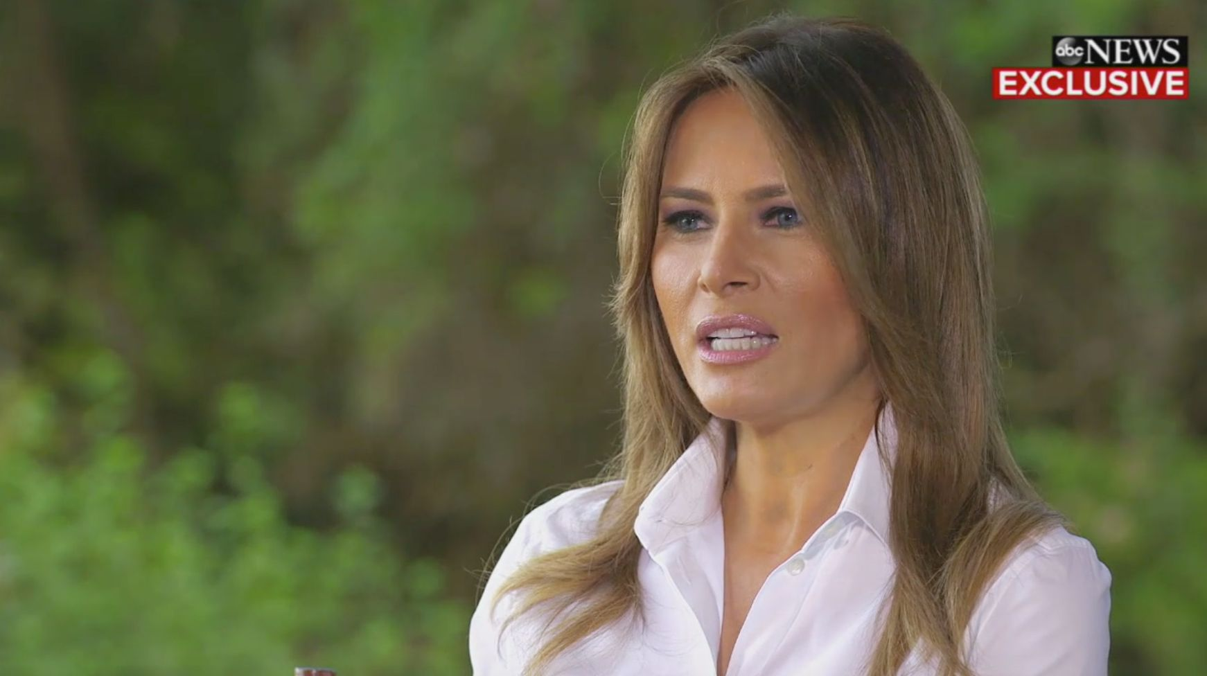 Melania Trump speaks to ABC News' Tom Llamas.