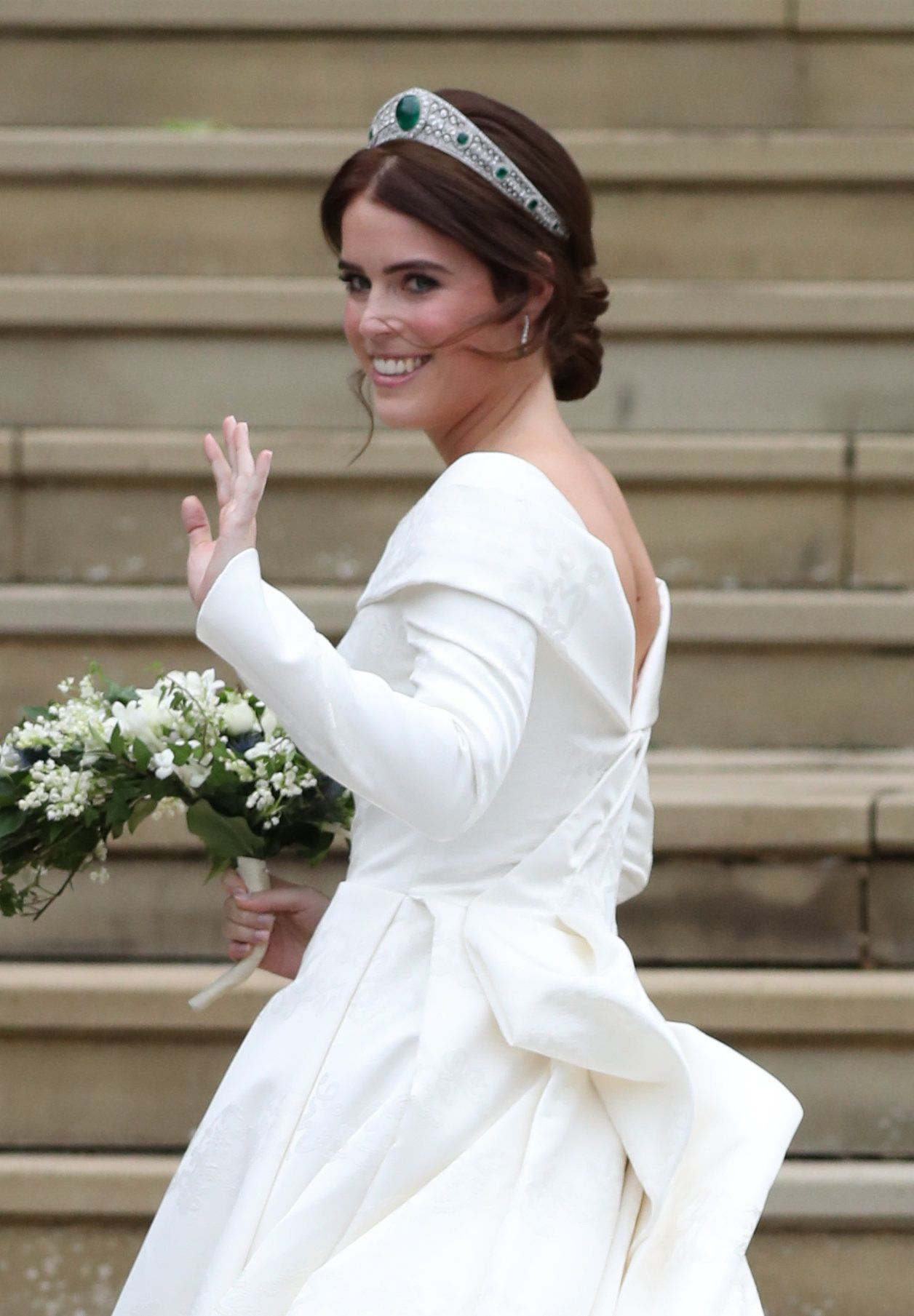 Princess Eugenie Wears Low-Back British Wedding