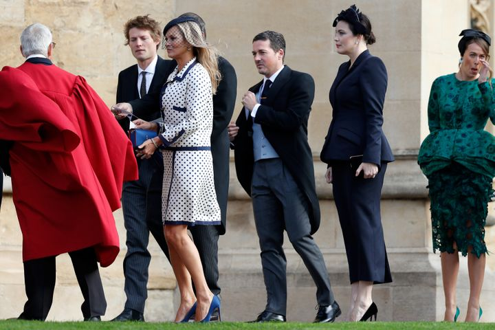Kate Moss arrives with other wedding guests.