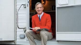 Tom Hanks as Mister Rogers in an upcoming movie about his life.