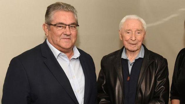 O Γιούρι Γκριγκαρόβιτς επιτέλους ήρθε, συναντήθηκε με τον Κουτσούμπα και το twitter αναστέναξε από
