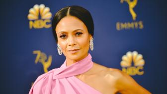 LOS ANGELES, CA - SEPTEMBER 17:  (EDITORS NOTE: Image has been digitally enhanced) Thandie Newton arrives at the 70th Emmy Awards on September 17, 2018 in Los Angeles, California.  (Photo by Matt Winkelmeyer/Getty Images)