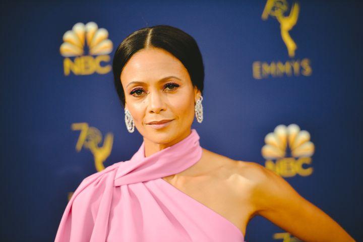 Thandie Newton attends the 2018 Emmys.