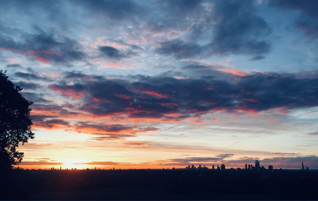 Sunrise over London this