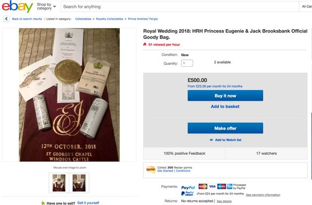 Royal Wedding Gift Bags Are Being Sold Online Huffpost Uk