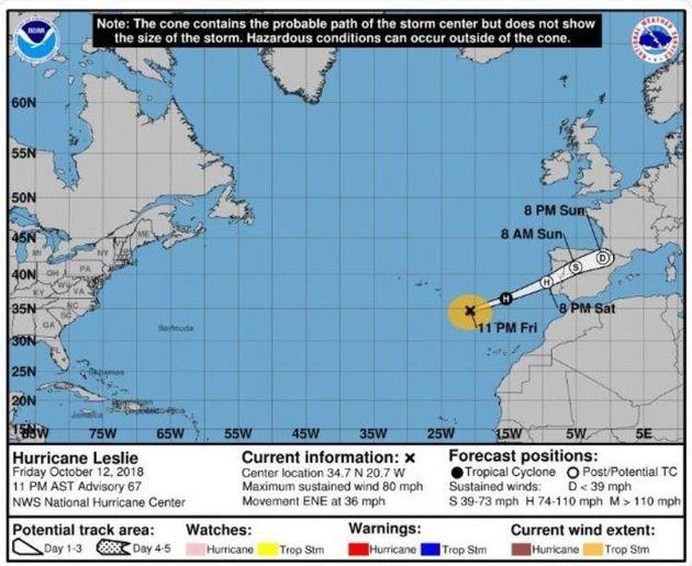 Πορτογαλία και Ισπανία προετοιμάζονται για τον κυκλώνα