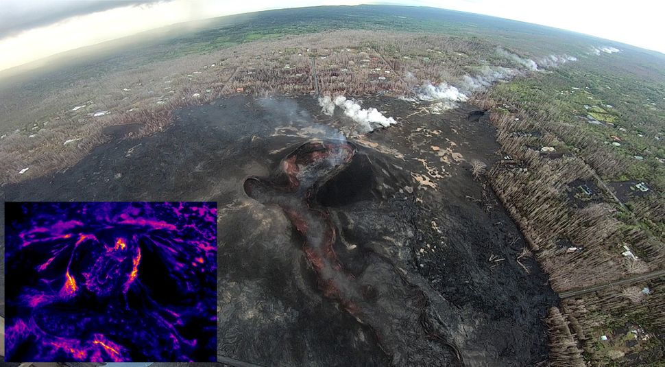 This Oct. 4 photo shows some of the devastationcaused by the volcano in Leilani Estates.