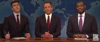 Seth Meyers on Weekend Update again.