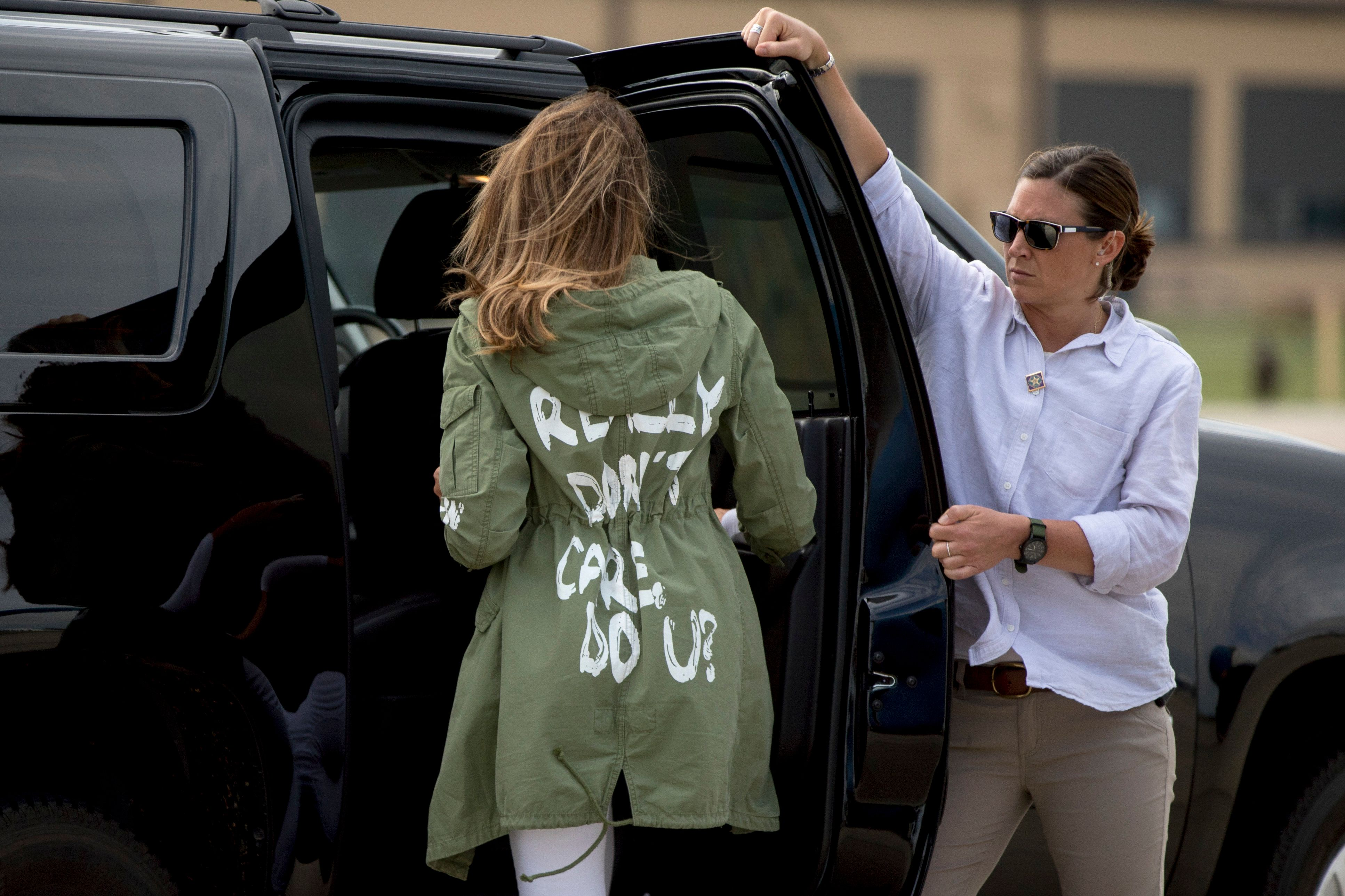 Melania Trump Reveals What That 'I Really Don't Care' Jacket Was All