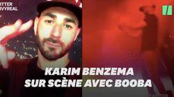 Pour son premier concert après la bagarre et le procès, Booba a invité Benzema sur scène