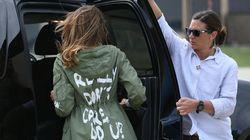 멜라니아 트럼프가 '신경 안 써' 재킷 논란을 마침내