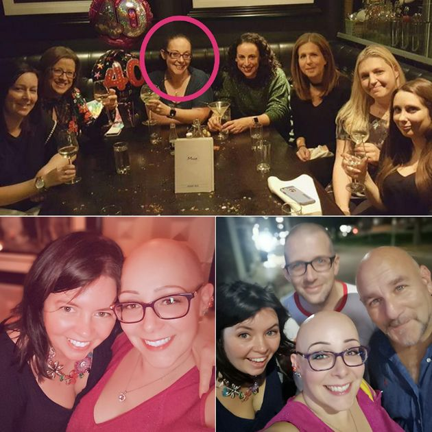 Sad and scared at my 40th, and happy and bald at