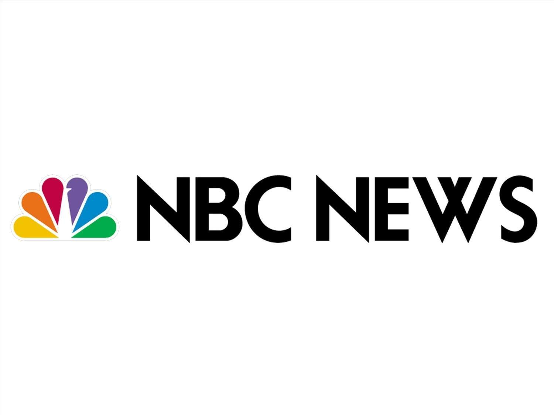 NBC NEWS logo, graphic element on white
