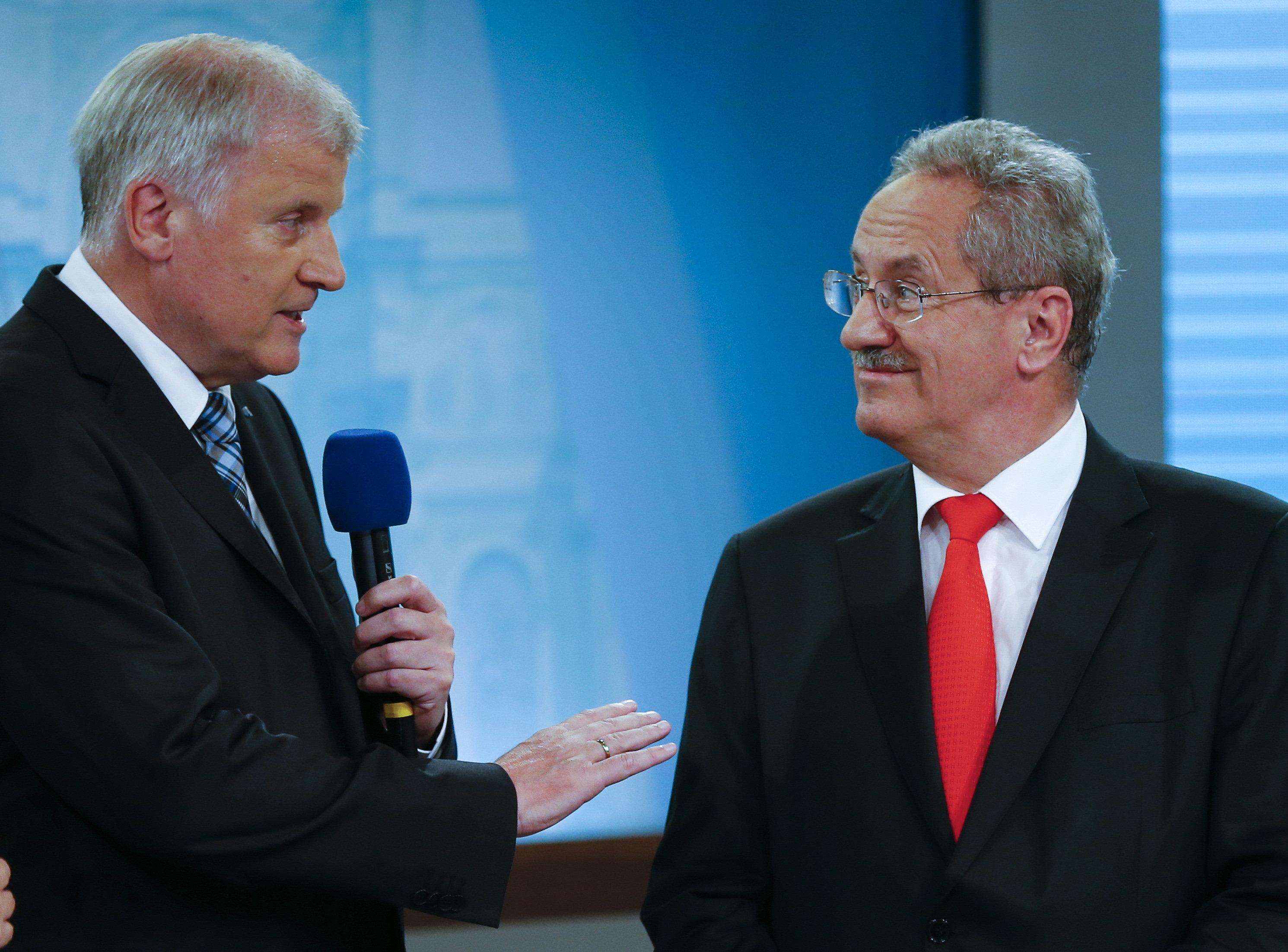 In der ARD: Als SPD-Politiker Ude das Ergebnis seiner Partei bei der Bayernwahl sieht, wütet er