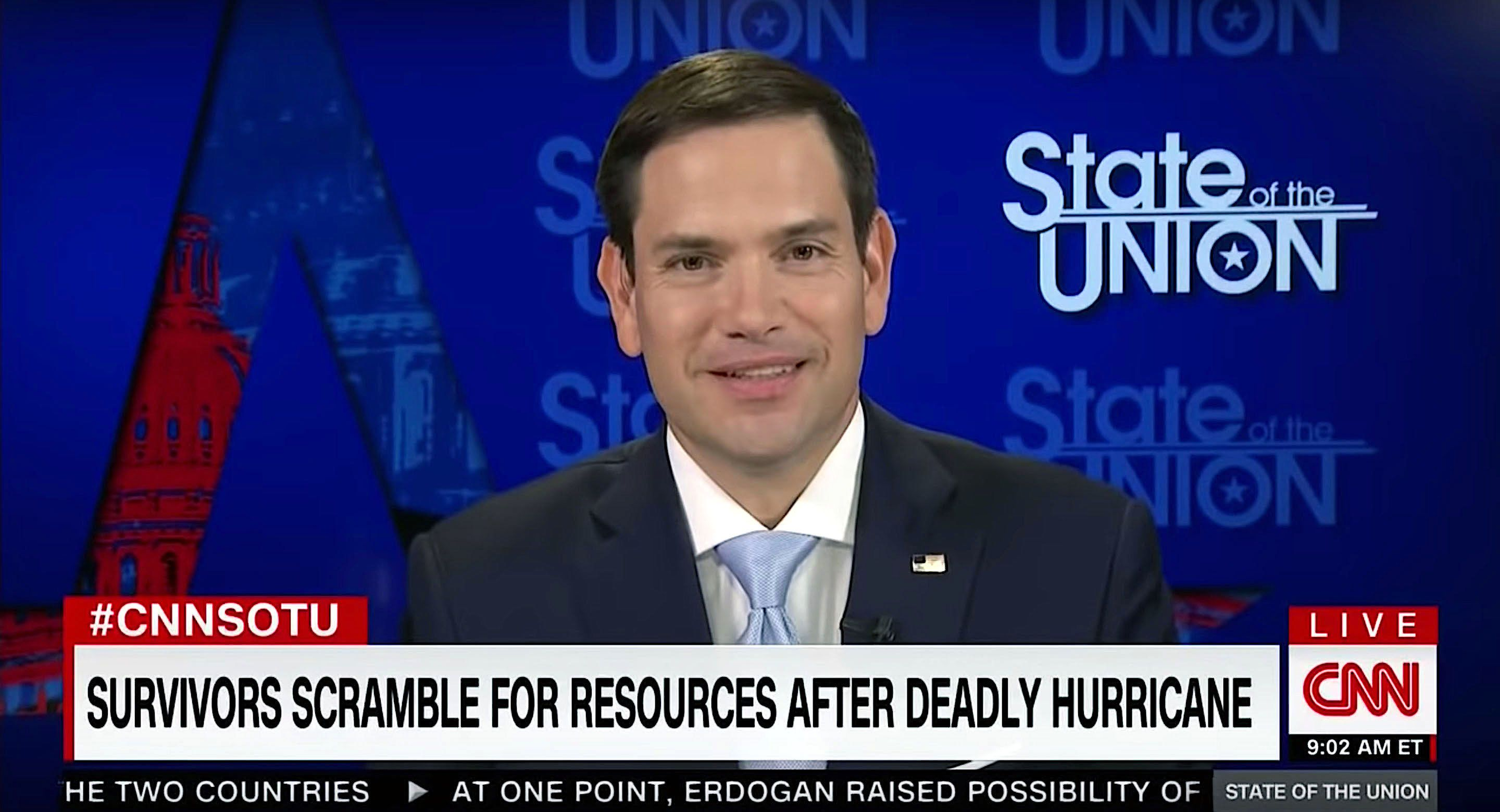 Marco Rubio discusses climate change on CNN.