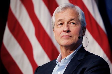 Jamie Dimon, CEO of JPMorgan Chase, takes part in a panel discussion about investing in Detroit at the Kennedy School of Gove