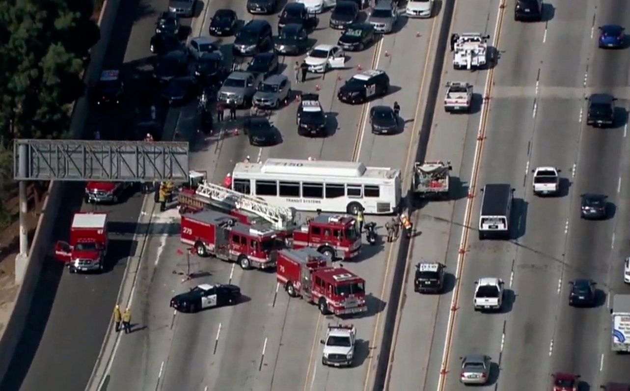 25 Hospitalized After Highway Crash In Los Angeles
