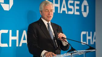 JPMorgan Chase & Co. Chairman and CEO Jamie Dimon speaks at a luncheon celebrating the expansion of JPMorgan Chase into the Greater Washington region on Thursday, April 19, 2018 in Washington. (Kevin Wolf/AP Images for JPMorgan Chase & Co.)